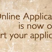 2015 Online Application Portal now open!