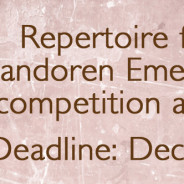 Repertoire for 2016 Vandoren Emerging Artist competition announced