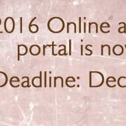 2016 Online application portal now open!