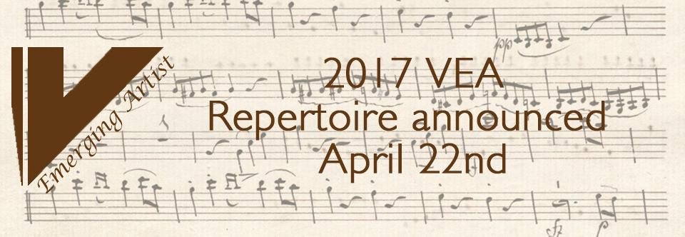 2017 Repertoire announced