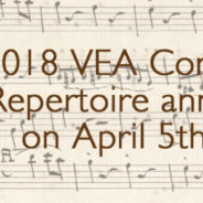 2018 Repertoire announced