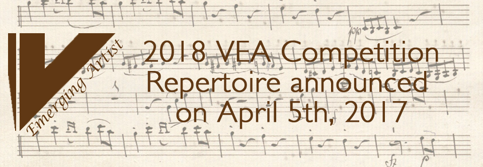2018 Repertoire announced